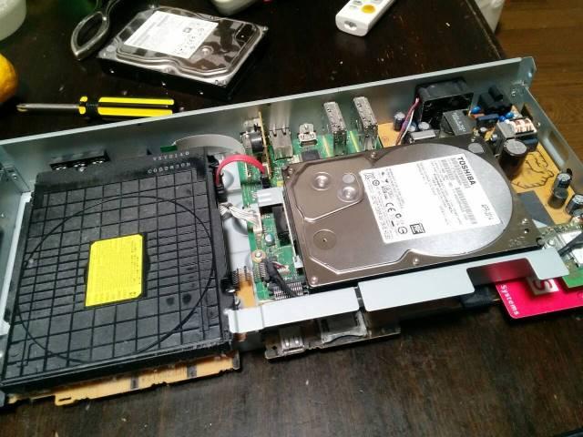 ハードディスクレコーダーを自力修理
