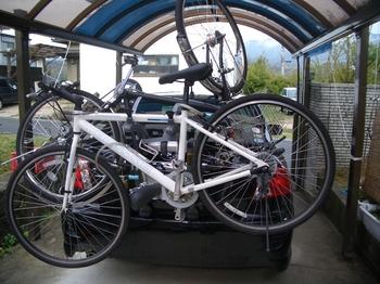 自転車の 自転車 キャリア 背面 : ネシスに背面型自転車キャリア ...